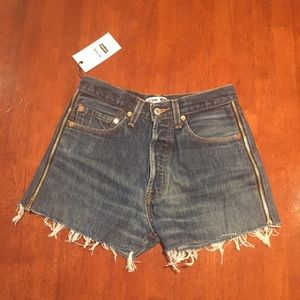 RE/DONE Redone Levi's High Rise Zip Shorts 26
